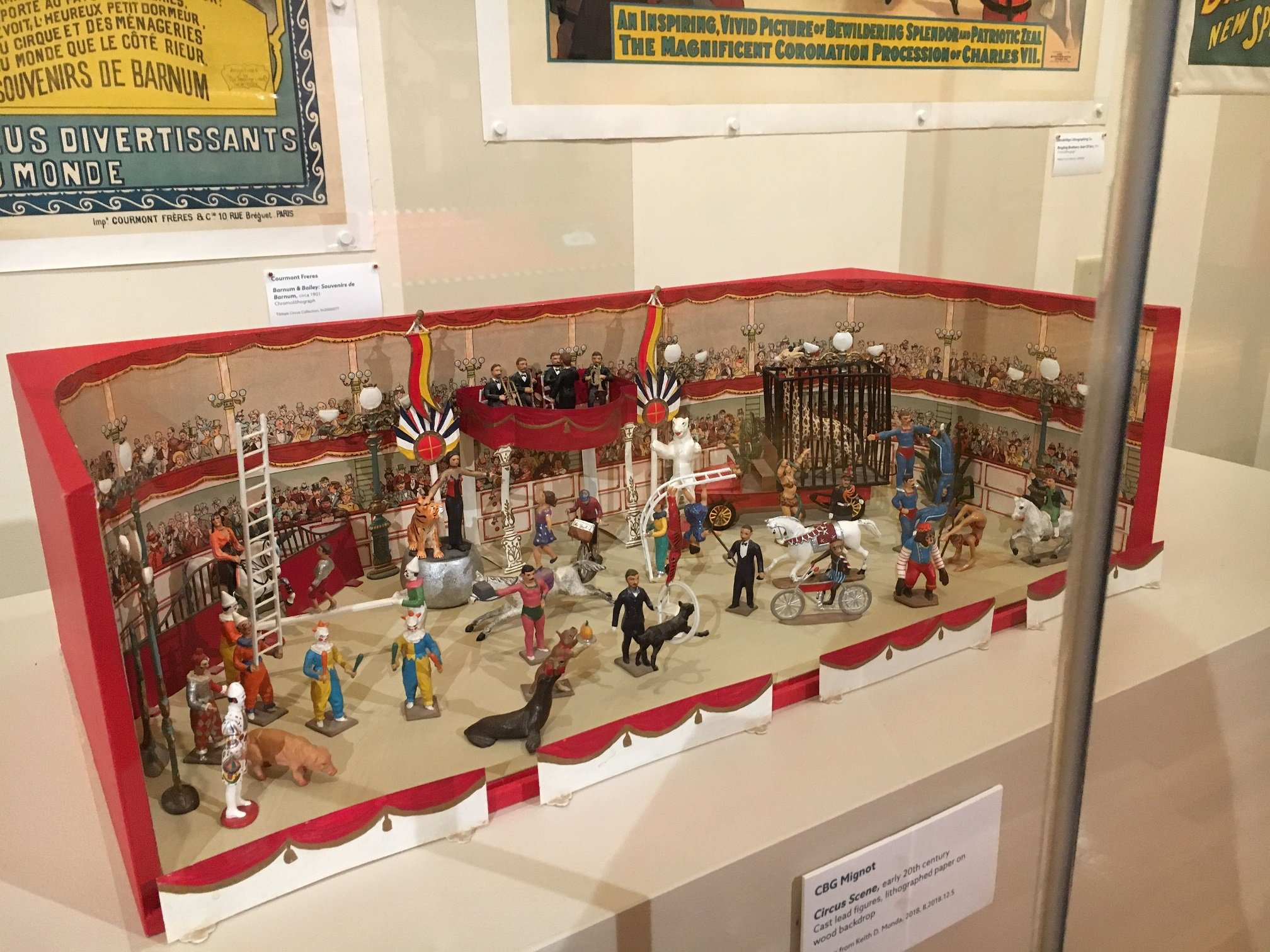 19th Century Circus Toy Diorama in A Child's Dream Exhibition at The Ringling