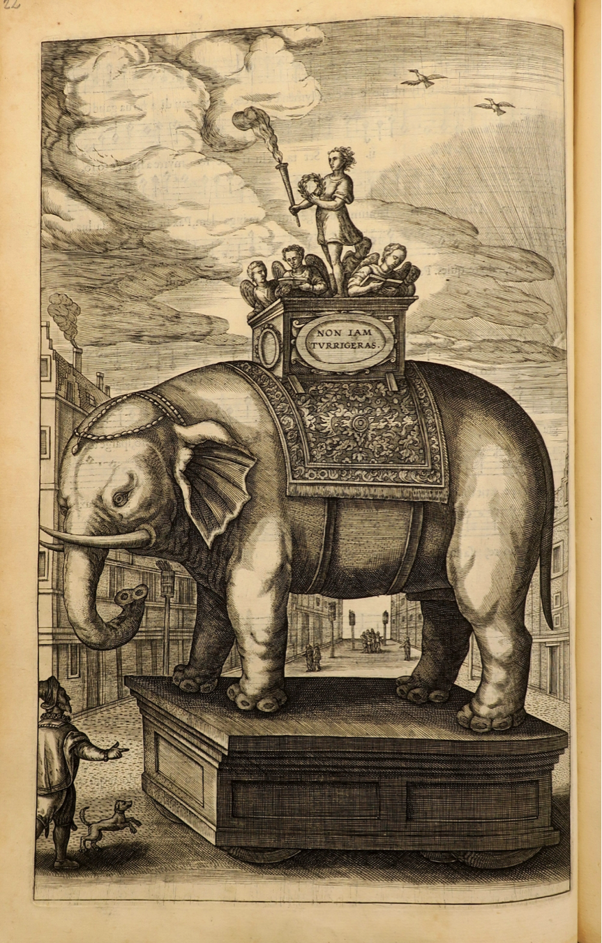 Illustration of an elephant on a parade float
