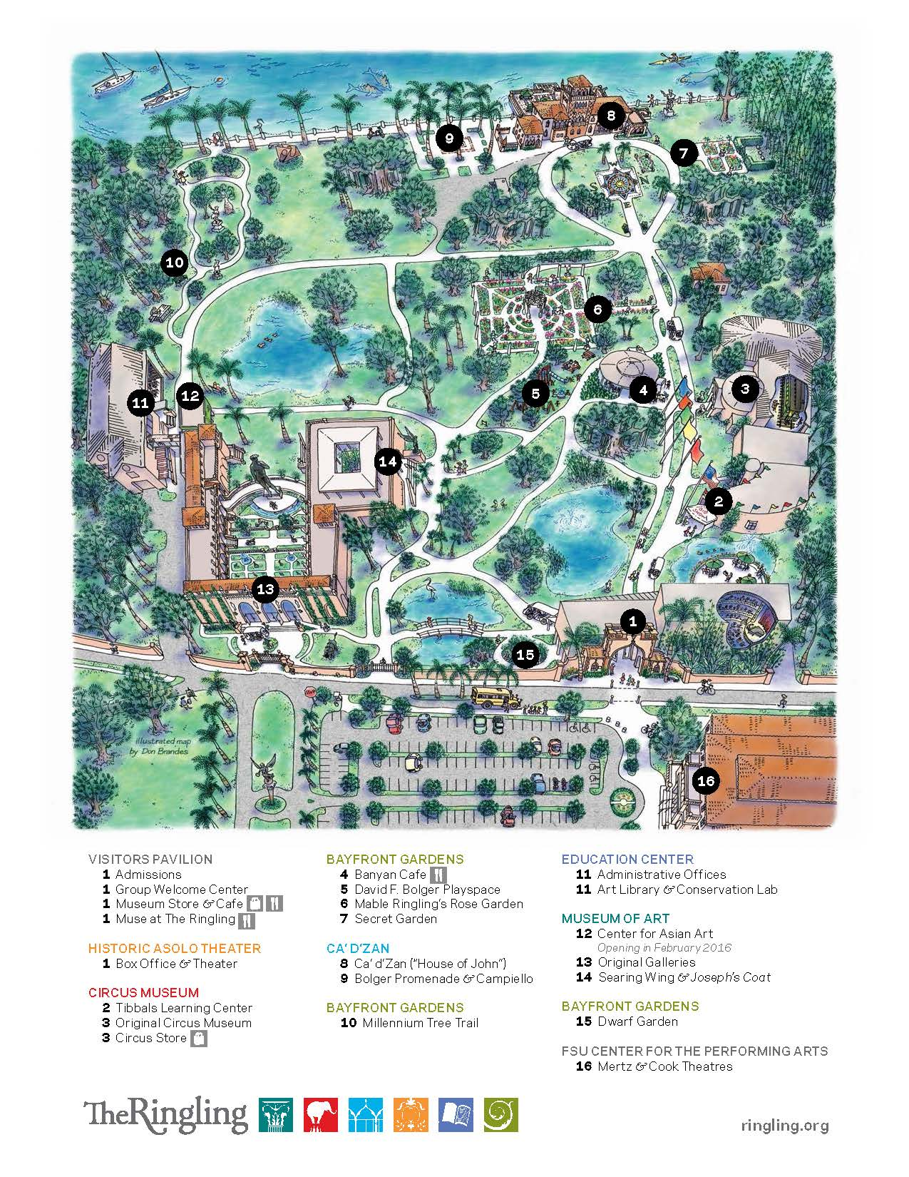 Ringling Estate Map