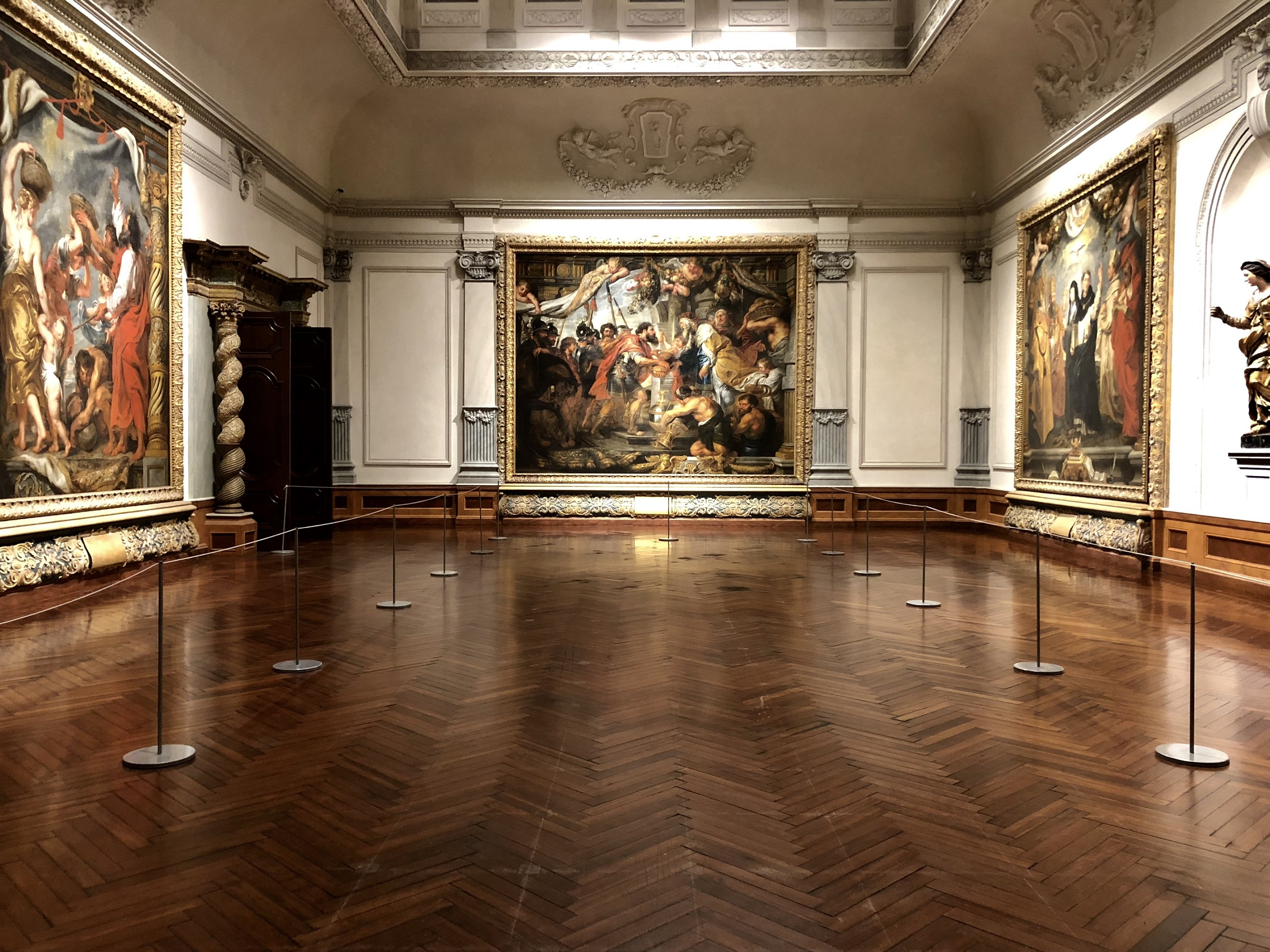 Gallery 1 and 2 of the John and Mable Ringling Museum of Art houses the Triumph of the Eucharist series by Peter Paul Rubens