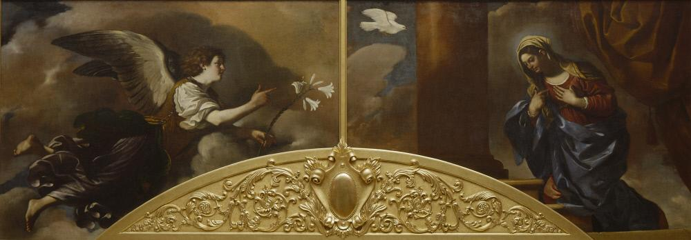 """""""Annunciation"""" (1628-1629)  Il Guercino (Italian, 1591 - 1666) at The Ringling"""