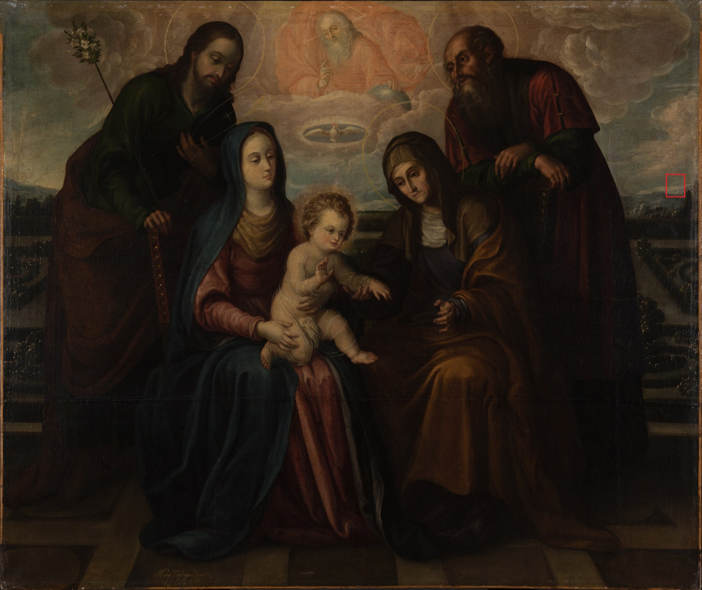 Holy Family with Saints Anne and Joachim by Nicolás Rodríguez Juarez at THe Ringling
