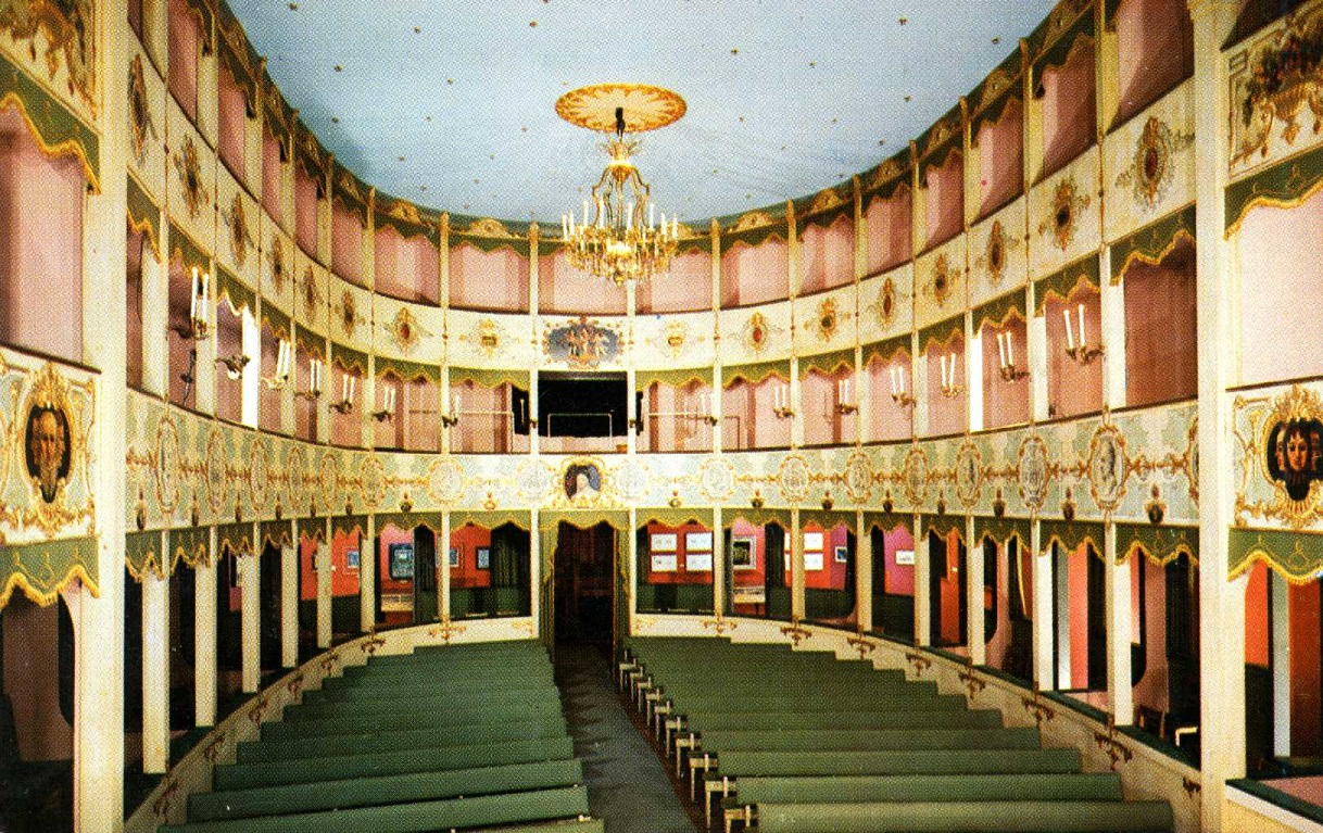 The Historic Asolo Theater as it was installed in Gallery 21 of The John and Mable Ringling Museum of Art
