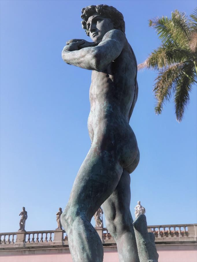 Statue of David at The Ringling during conservation