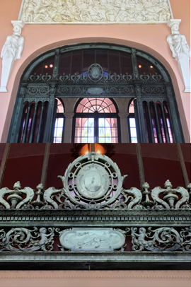 Detail of Iron Doors from the Astor Mansion in the Museum of Art Lobby at The Ringling