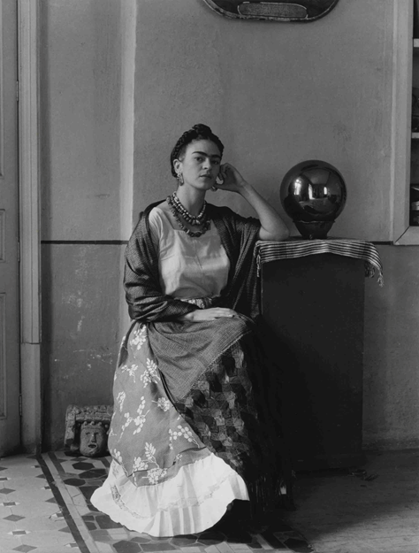 Manuel Álvarez Bravo (Mexican, 1902-2002), Frida Kahlo, 1937; printed later. On loan from Stanton B. and Nancy w. Kaplan. © Colette Urbajtel/Asociación Manuel Álvarez Bravo.