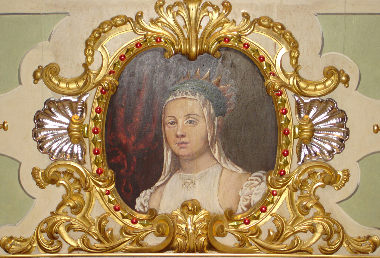 Detail of Portrait thought to be Caterina Coronaro in the Historic Asolo Theater at The Ringling