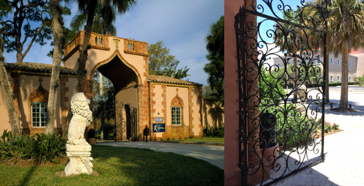 Wrought Iron Gate of the Gatehouse at The Ringling