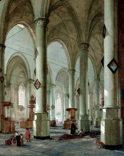 Interior of the Pieterskerk in Leiden