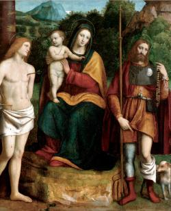 Madonna and Child with Saints Sebastian and Roch