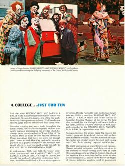 Ringling Bros. and Barnum & Bailey Clown College 1968 - 1997