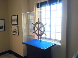 Ships Steering Wheel said to have been recovered from John Ringling's Yacht The Zalophus