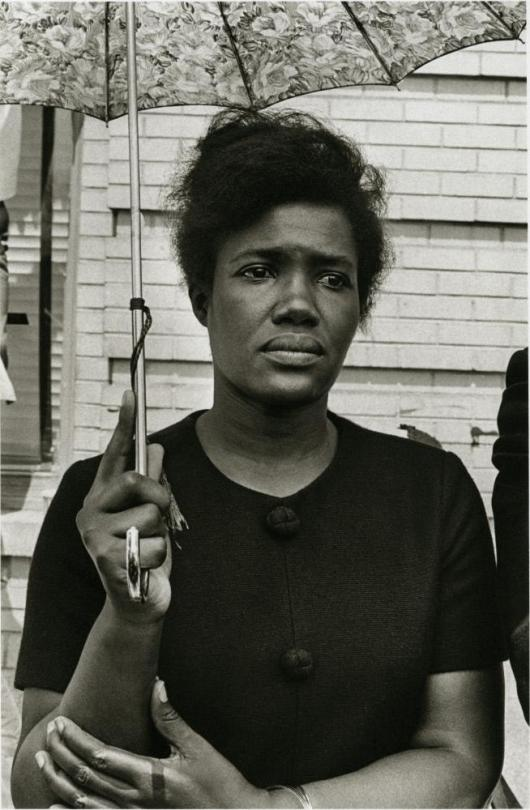 Annell Ponder (civil rights worker) at Martin Luther King Funeral, Atlanta, 1968, Photograph by Builder Levy in The Ringling Collection