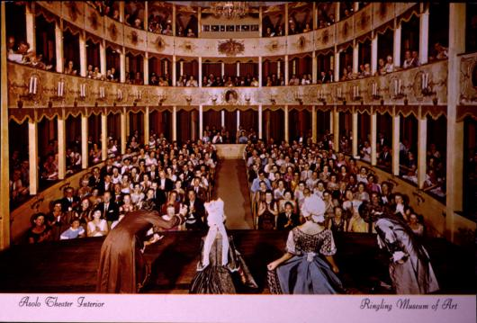 The Historic Asolo Theater seen from stage during a performance