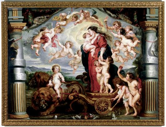 The Triumph of Divine Love, by Peter Paul Rubens at The Ringling Museum of Art
