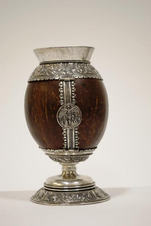 Coconut Cup, gilded silver and coconut shell, German, 15th century