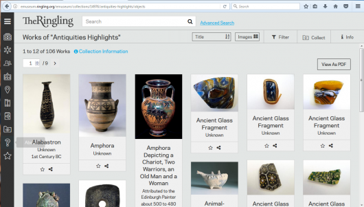Antiquities highlights collection in The Ringling's online collections