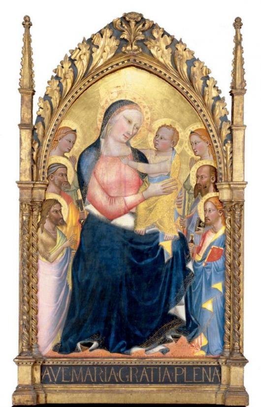 Madonna and Child with Saints and Angels, Giovanni del Biondo (Italian, active 1356, died 1399) , c. 1380/1390