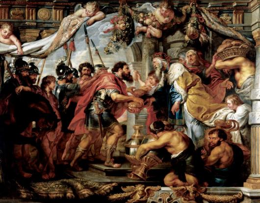 The Meeting Of Abraham and Melchizedek by Peter Paul Rubens at The Ringling Museum of Art