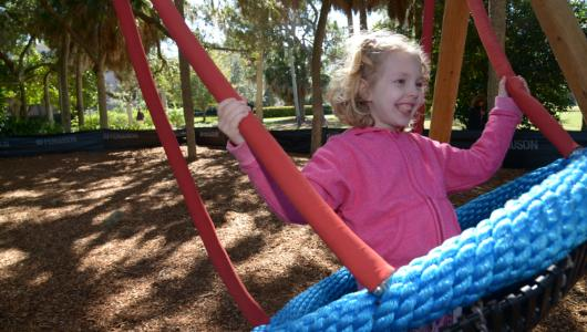 swinging at the ringling bolger playspace