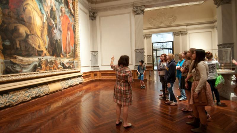 Docent led tour in the Ringling Museum of Art