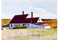 Edward Hopper (American, 1882-1967), Jenness House Looking North, 1934. Watercolor, 19 x 27.5 inches. Museum Purchase, 1976. SN949
