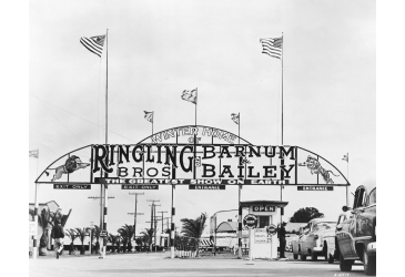 Entrance to Winter Quarters of the Ringling Bros. and Barnum & Bailey, The Greatest Show on Earth, in Sarasota