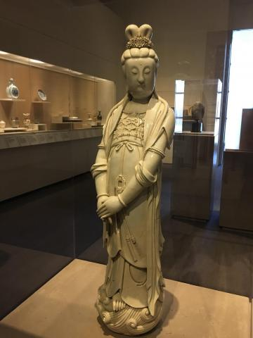 Guanyin statue in the Center for Asian Art at The Ringling